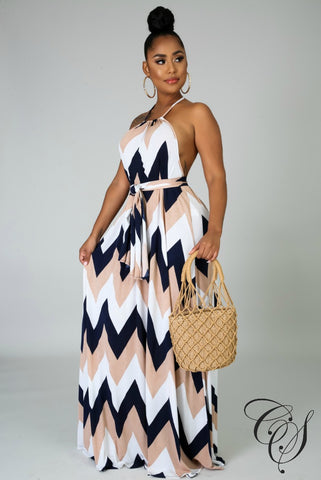 Willa Zig Zag Maxi Dress