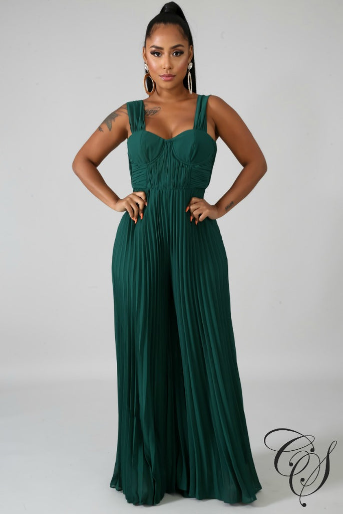 Yara Bouncy Chiffon Jumpsuit, Jumpsuit - Designs By Cece Symoné