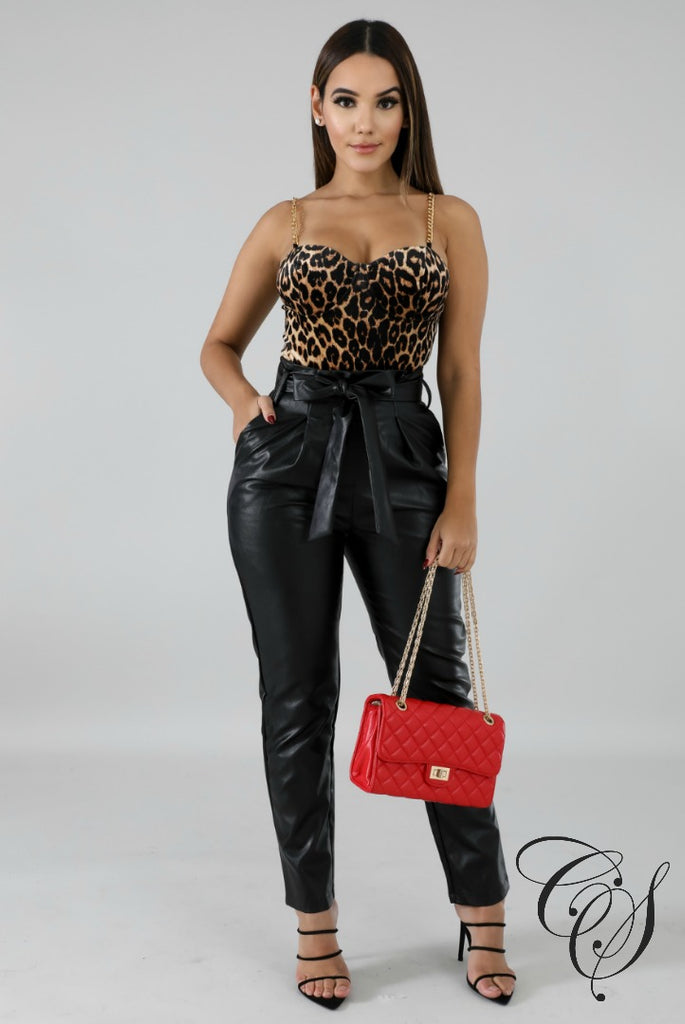 Yvette Cheetah Chain Bodysuit, Bodysuit - Designs By Cece Symoné