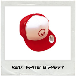 Classic Trucker: Red, White & Happy - Under the Influence of Happiness
