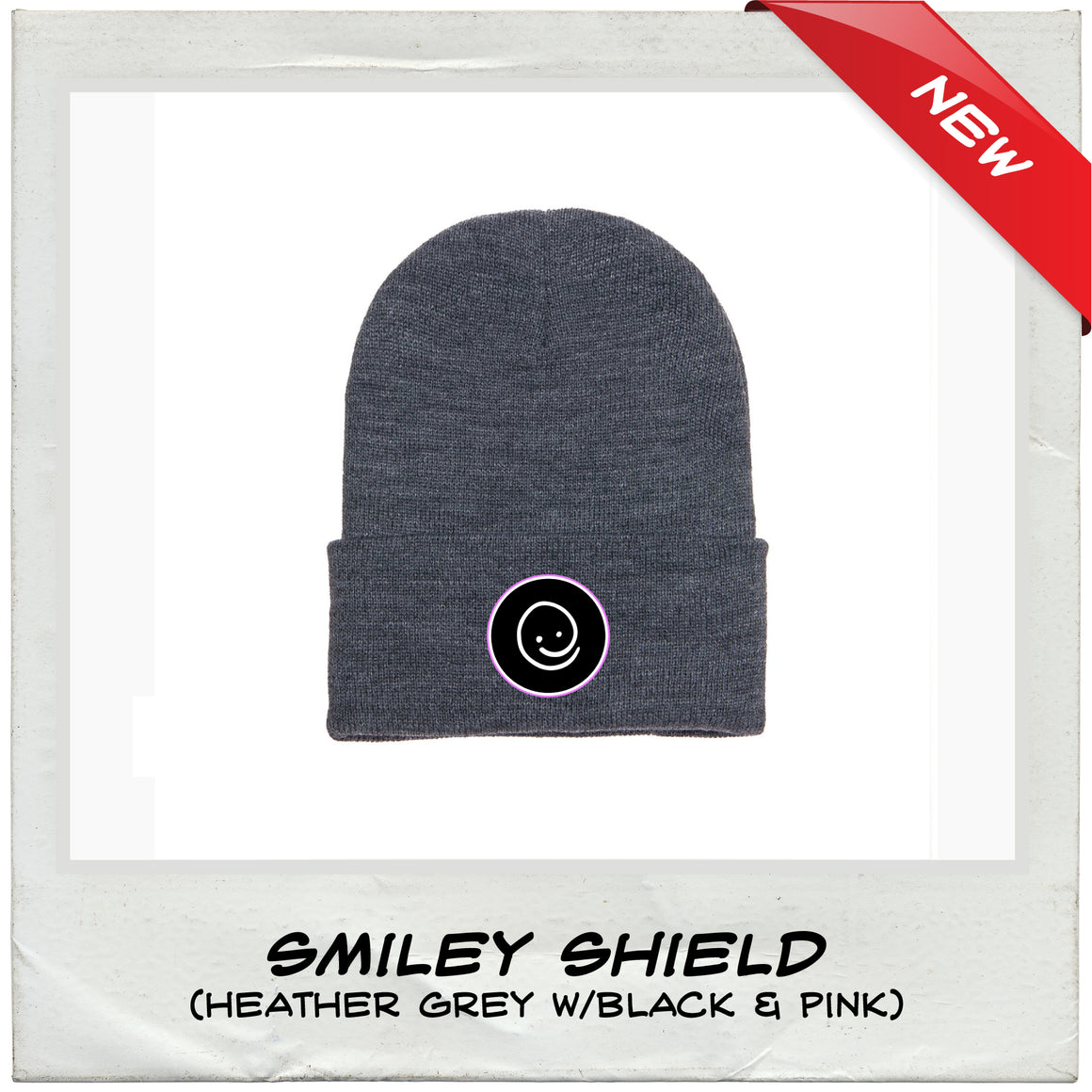 Happy Knit Beanie | Smiley Shield - Under the Influence of Happiness