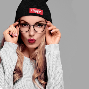 Happy Knit Beanie | Red Box