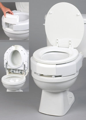 Secure Bolt Hinged Elevated Toilet Seat Elongated Wheelchairs Abound