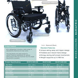 Karman Customized Bariatric Wheelchair KM-BT10-24W