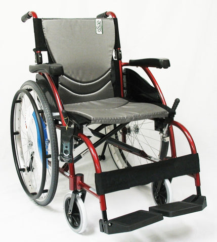 Ergonomic Lt-Wt Wheelchair- Burgundy S-ERGO105F18RS