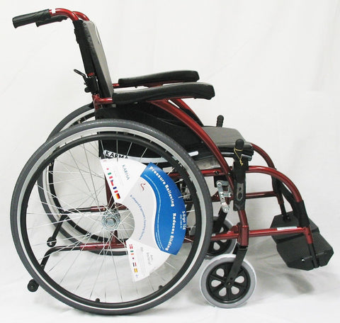 Ergonomic Lt-Wt Wheelchair- Burgundy S-ERGO105F16RS