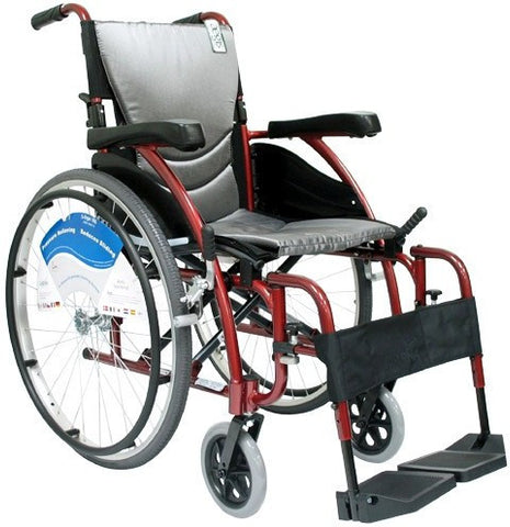 Ergonomic Lt-Wt Wheelchair- Burgundy S-ERGO115F18RS