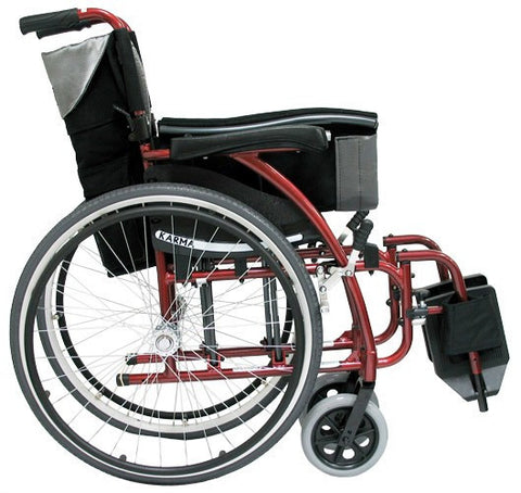 Ergonomic Lt-Wt Wheelchair- Burgundy S-ERGO115F16RS