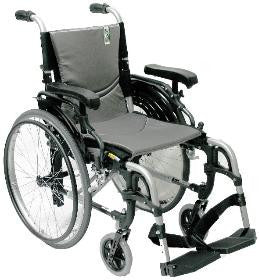 Ergonomic Lt-Wt Wheelchair - Silver S-305Q16SS