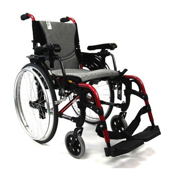 Ergonomic Lt-Wt Wheelchair Red S-305Q16RS