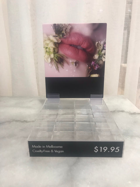 FREE 'Pink Lips' Floral Display Stand (holds 16 x saleable and 4 x testers) Limit 1 x per order