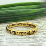 3mm Gold Plated Titanium Ring
