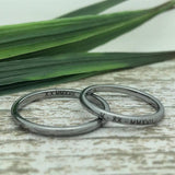 3mm Gunmetal Tungsten His and Her Ring Set