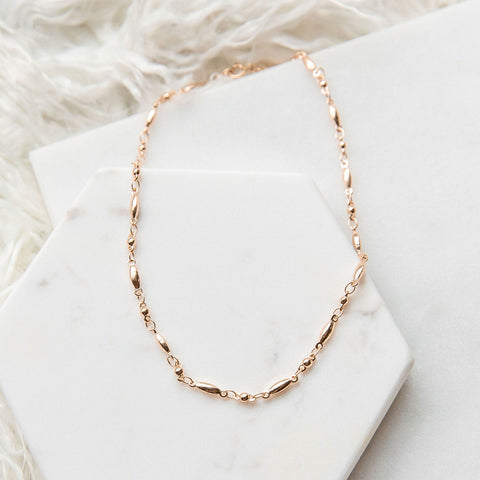 Rose Gold Spindle Choker