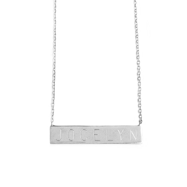 Custom Nameplate Bar Necklace