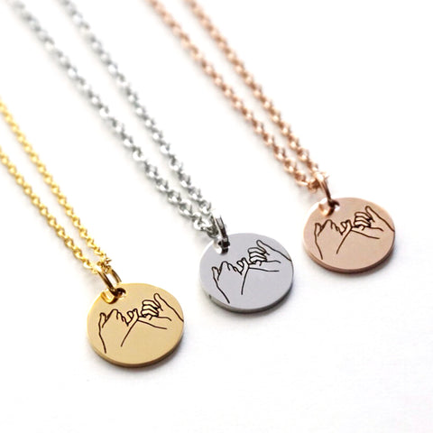 Pinky Promise Disk Necklace