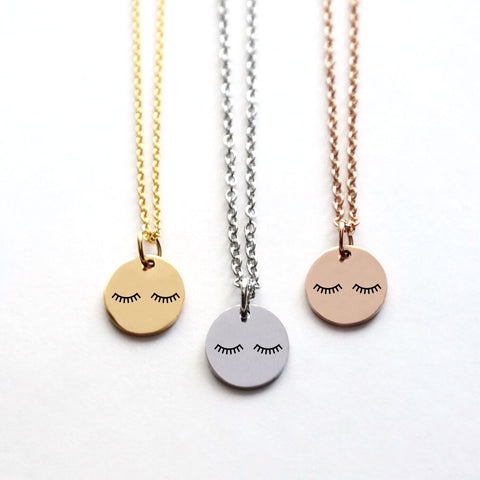 Sleepy Eyes Disk Necklace