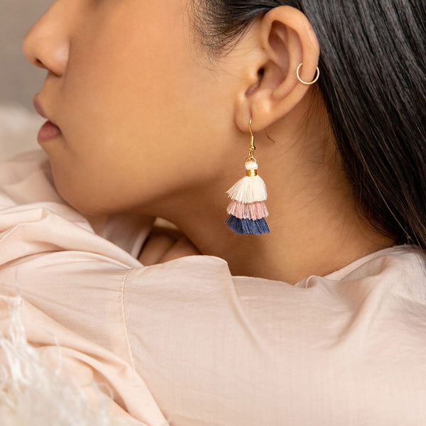 Lavender Lemonade Tassel Earrings