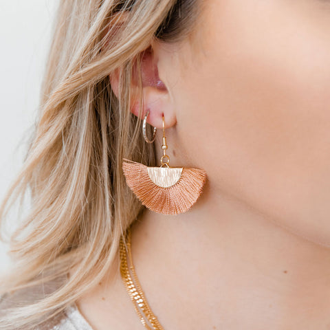 Blush Fan Earrings