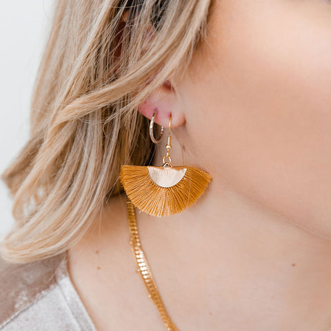 Marigold Fan Earrings