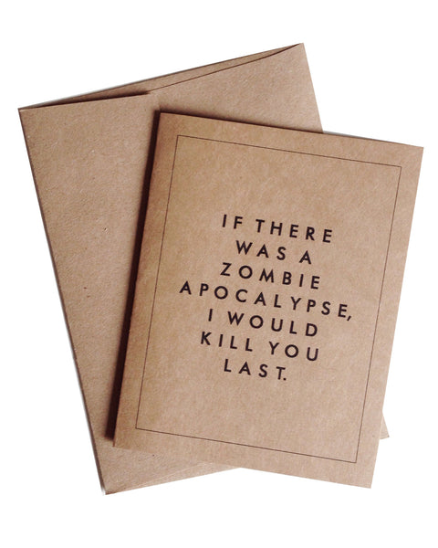 Zombie Apocalypse Greeting Card
