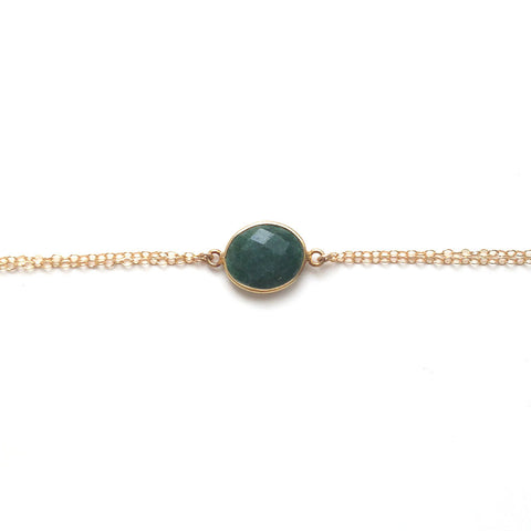 Emerald Gold Filled Bracelet