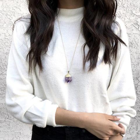 Meg Amethyst Quartz Necklace