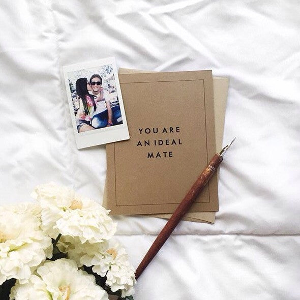 """You Are an Ideal Mate"" Greeting Card"