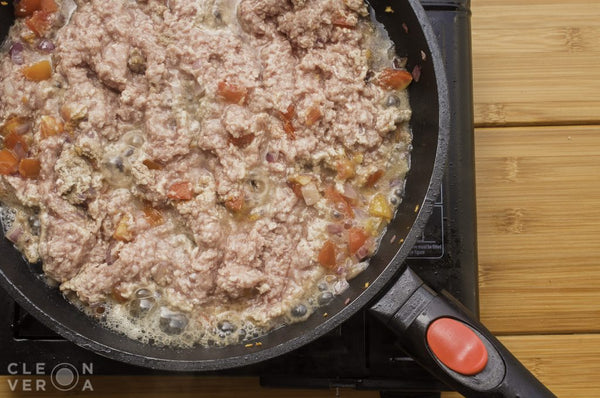 arroz a la cubana - ground meat