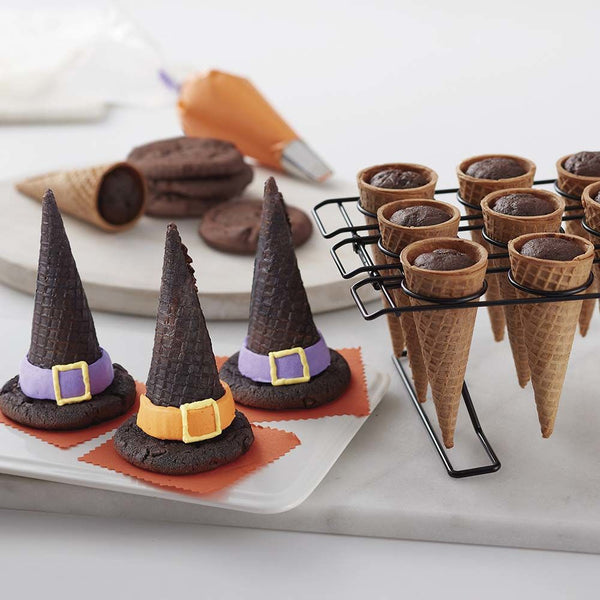 Halloween Witch Hat Cupcake Cones
