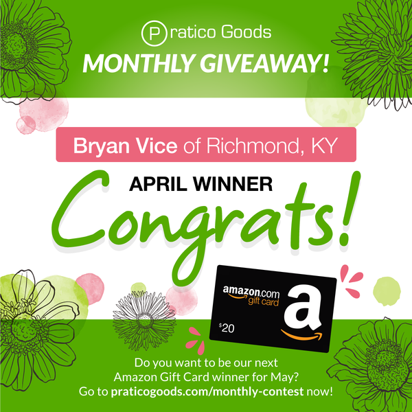 Congratulations to Our April $20 Amazon Gift Card Contest Winner