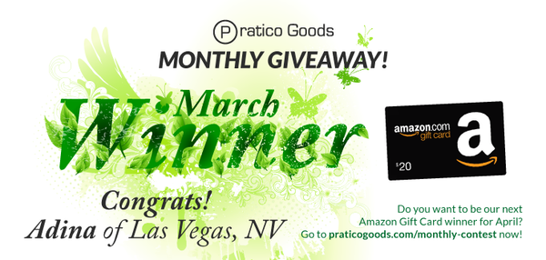 Congratulations to Our March $20 Amazon Gift Card Contest Winner