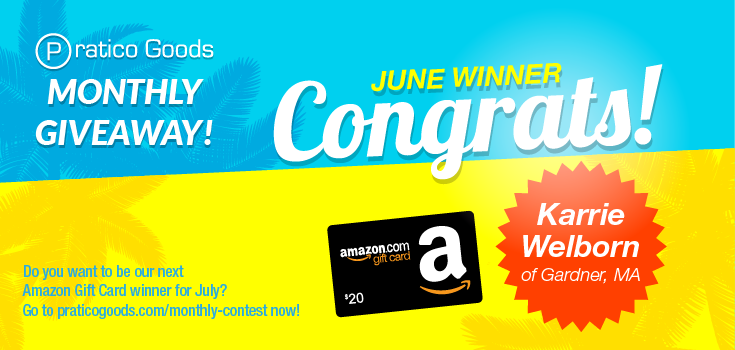 Congratulations to Our June $20 Amazon Gift Card Contest Winner