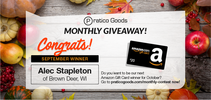 Congratulations to Our September $20 Amazon Gift Card Contest Winner