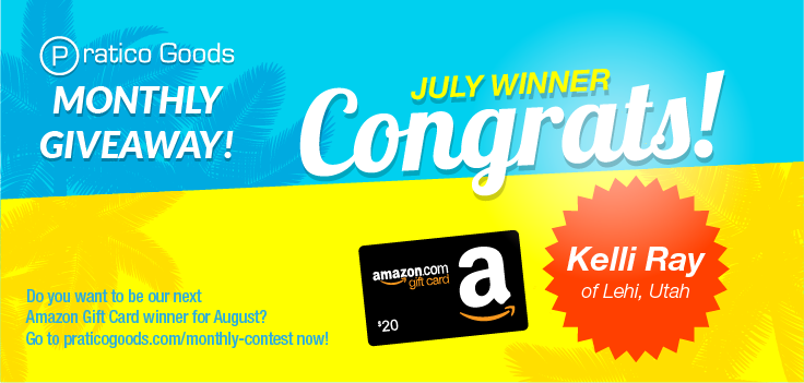 Congratulations to Our July $20 Amazon Gift Card Contest Winner