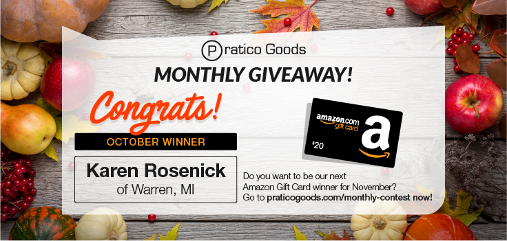 Congratulations to Our October $20 Amazon Gift Card Contest Winner