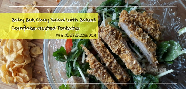 Baby Bok Choy Salad with Cornflake-crusted Tonkatsu