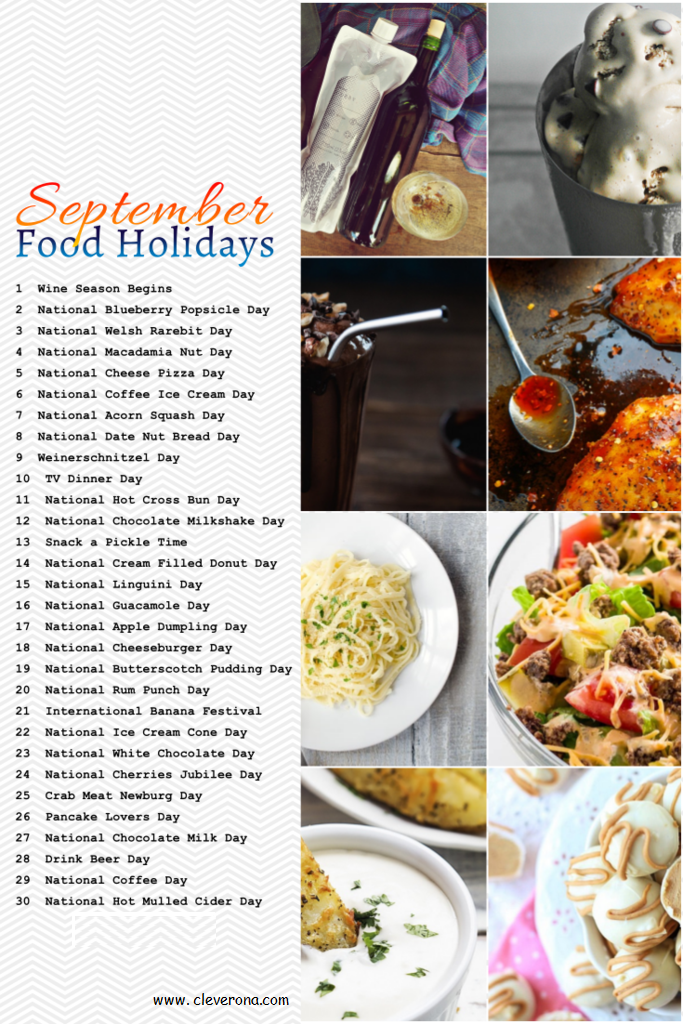 September Food Holidays