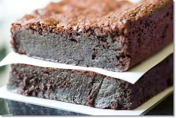 decadent flourless brownies