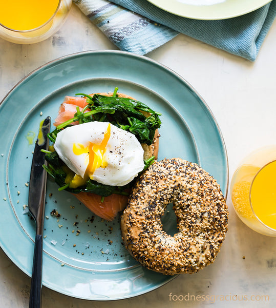 Egg Recipes for Easter Sunday - Eggs Florentine Bagel