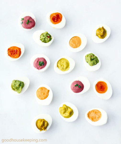 Egg Recipes for Easter Sunday - Rainbow Deviled Eggs