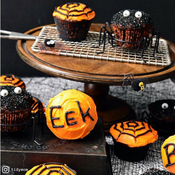 Halloween Fudge Cupcakes