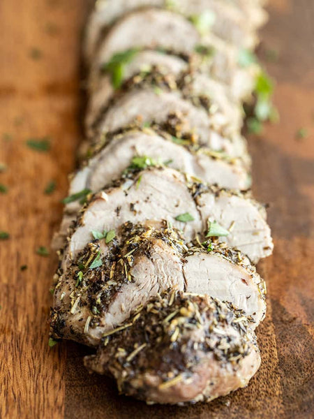 Herb-Roasted Pork Tenderloin by Budget Bytes