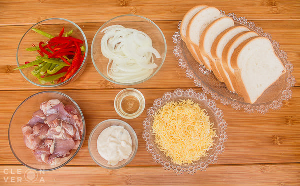 Open-Faced Garden Chicken Sandwich Ingredients