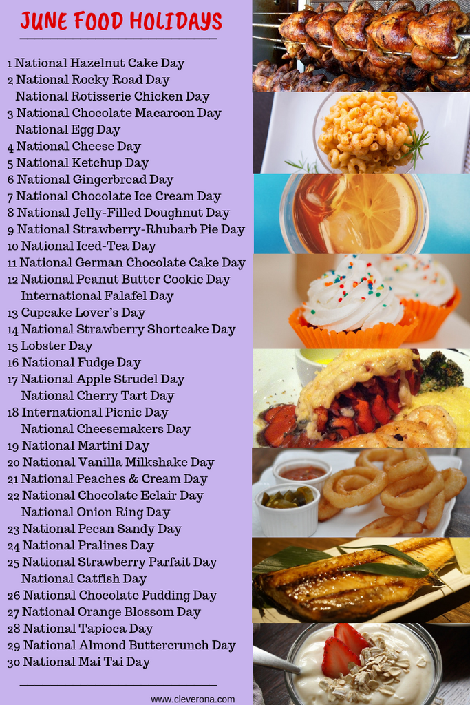 June food holidays list