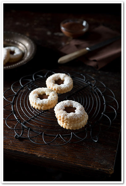 orange linzer cookie with grand marnier chocolate ganache recipe