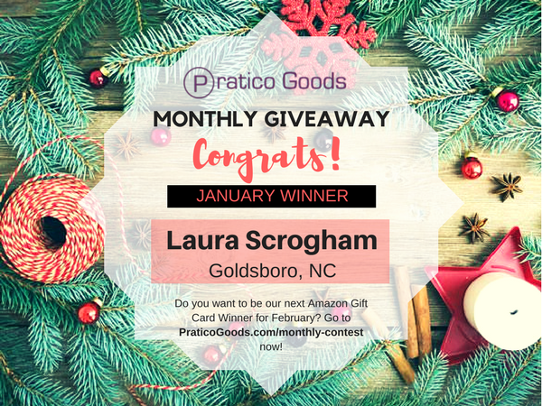 Congratulations to Our January $20 Amazon Gift Card Contest Winner