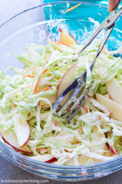Creamy No Mayo Coleslaw with Apple