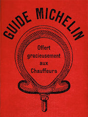 Old michelin guide cover