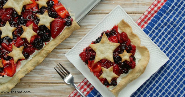 Patriotic Pie Ideas - Star-Spangled Red White & Blue Slab Pie